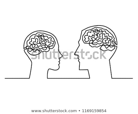 Couple with labyrinth brains communicate Stock photo © adrian_n