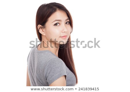Attractive smiling lady turning back  Stock photo © stockyimages