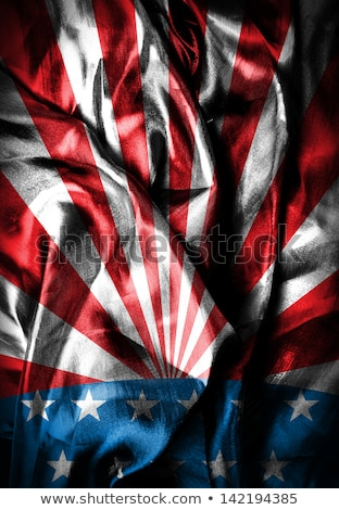 USA flag on Crumpled paper texture Stock photo © stevanovicigor