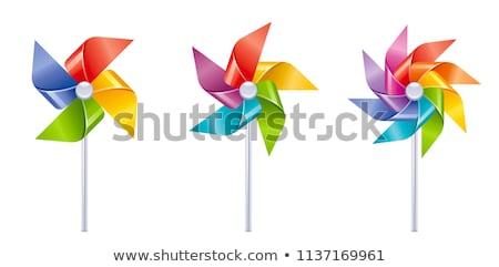 origami paper windmill vector illustration Stock photo © konturvid