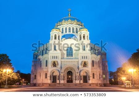 naval cathedral in kronstadt saint petersburg stock photo © mikko