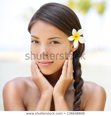 Wellness beauty woman - relaxing spa serene model Stock photo © Maridav
