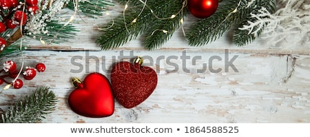 amor · símbolo · preto · vidro · secretária · vermelho - foto stock © capturelight