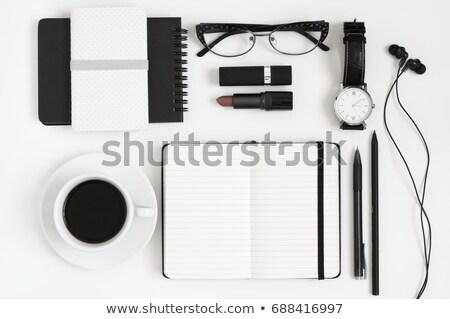 Stift · Zeitschrift · Leder · Business · Hintergrund · blau - stock foto © adam121