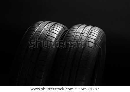 マクロ ショット 黒 タイヤ ゴム ストックフォト © shanemaritch