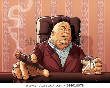 maffia · baas · cartoon · pak · man - stockfoto © araga