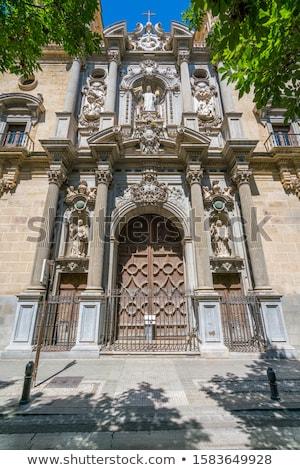 базилика · купол · витраж · собора · Испания · жилье - Сток-фото © billperry