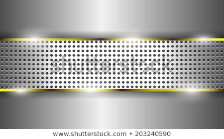 High grade gold metal background with silver swirls Stock photo © shawlinmohd