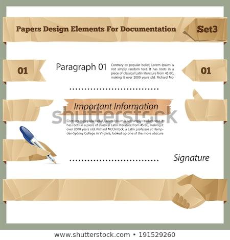 projeto · elementos · documentação · eps · arquivo · elemento - foto stock © voysla