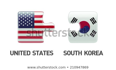 South Korean Flag in puzzle isolated on white background Stock photo © Istanbul2009