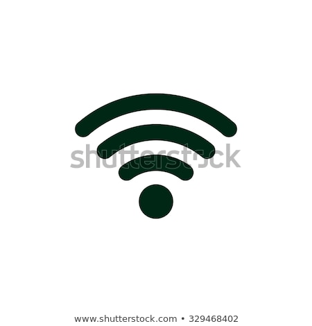 Vektor wifi ikon fekete króm fém Stock fotó © nickylarson974
