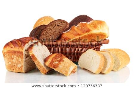 ストックフォト: 香ばしい · 新鮮な · パン · バスケット · 自家製