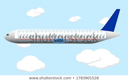 самолет воздуха свет аэропорту силуэта движения Сток-фото © leonido