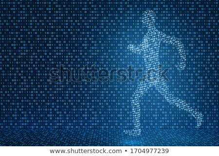 Stock photo: 3d man in zero pose