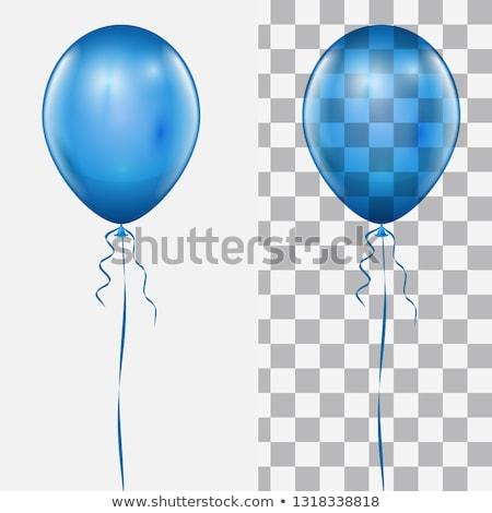 Single reflective blue balloon Stock photo © paulfleet