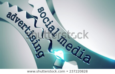 social media advertising on the cogwheels stock photo © tashatuvango