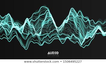 звук уровень аннотация 3D банка спектр Сток-фото © markbeckwith