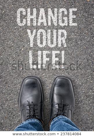 cambiare · vita · uomo · parole · lavagna · business - foto d'archivio © zerbor