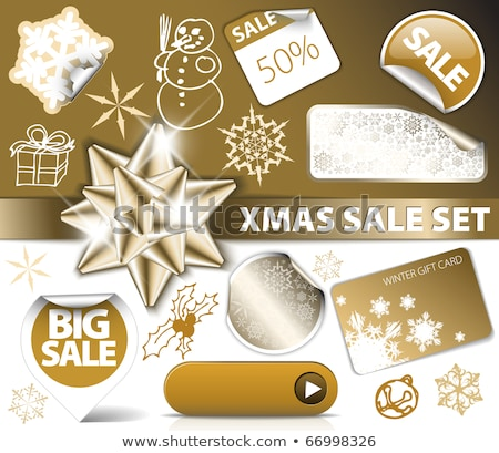 winter offer golden vector icon button stock photo © rizwanali3d