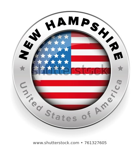 Map on flag button of USA New hampshire State Stock photo © Istanbul2009