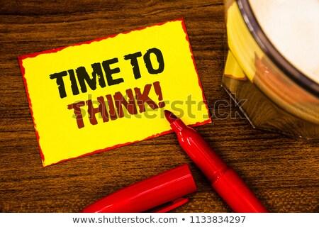 tiempo · preguntas · alto · reloj · palabras - foto stock © 3mc