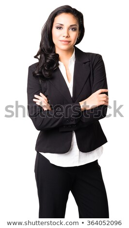 businesswoman with arms on hips stock photo © Flareimage