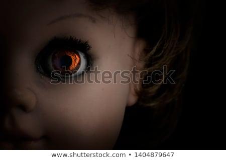 пресмыкающийся кукол ребенка ретро темно голову Сток-фото © sqback