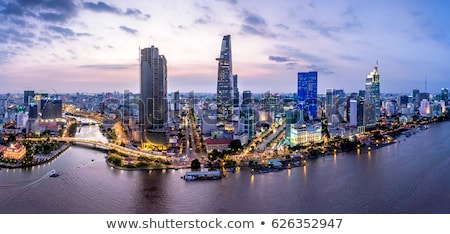 Aerial wiew of Ho Chi Minh city Stock photo © smithore