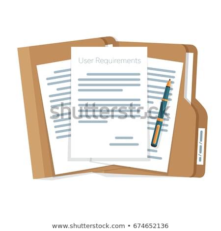 Słowo folderze karty selektywne focus informacji wyszukiwania Zdjęcia stock © tashatuvango