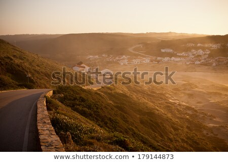 empty sand roads in portugal Stock photo © compuinfoto