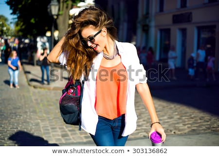 Young attractive caucasian lady Stock photo © acidgrey