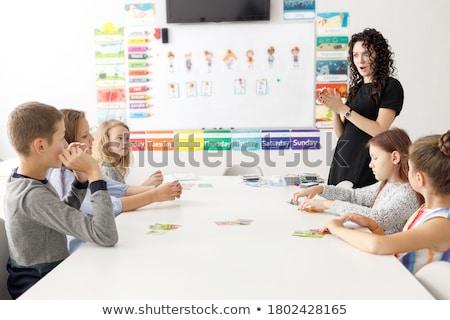 Ragazzi lingua scuola felice sorridere diverso Foto d'archivio © vectorikart