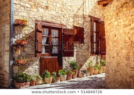 Oude binnenstad Cyprus water stad zon zomer Stockfoto © Kirill_M
