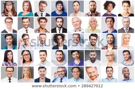 fej · fiatalember · stúdiófelvétel · fekete · arc · férfi - stock fotó © wavebreak_media
