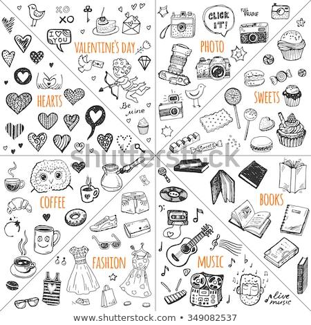 Gadget drawn in chalk Stock photo © RAStudio