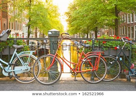 Amsterdam · vélo · belle · vue · rue · rose - photo stock © jeancliclac