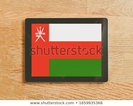Tabletta Omán zászló kép renderelt mű Stock fotó © tang90246