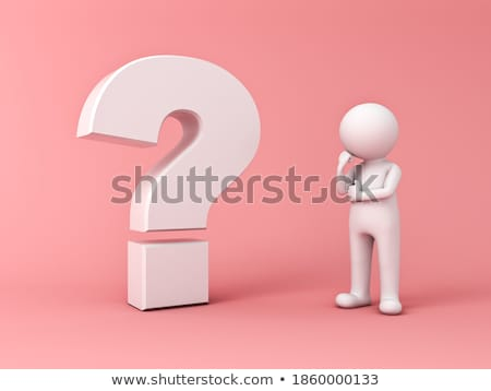 3d man with big pink question mark concept stock photo © nithin_abraham