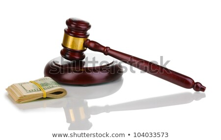 Many dollars and judge's gavel isolated on white  Stock photo © tetkoren