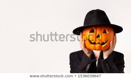 Halloween fiesta espantapájaros calabazas cementerio Foto stock © WaD