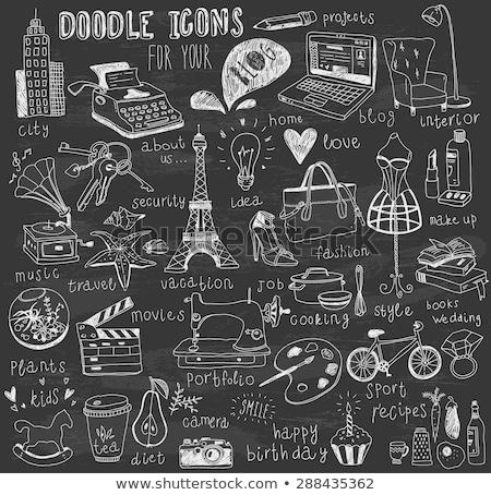 ヒトデ アイコン チョーク 手描き 黒板 ストックフォト © RAStudio