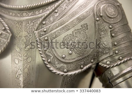 Armour of the medieval knight. Metal protection of the soldier against the weapon of the opponent  Stock photo © Mariusz_Prusaczyk