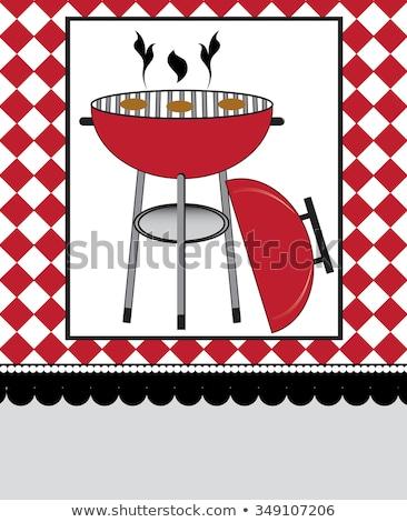 vector · tuinfeest · uitnodiging · wazig · helling - stockfoto © morphart