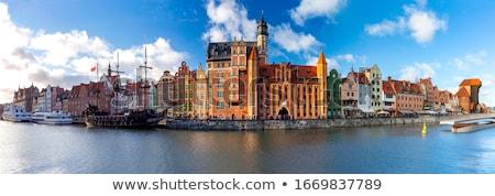Colorido casas gdansk Polônia céu edifício Foto stock © Mariusz_Prusaczyk