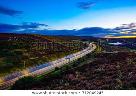 Foto stock: Dente · auto-estrada · outono · carro · estrada · rodovia