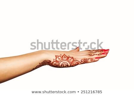 Tinilány henna tetoválás hát illusztráció tinilány Stock fotó © lenm