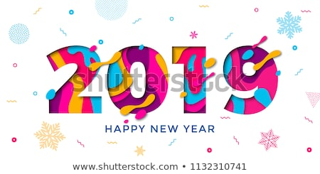 Stock photo: Snowflake Pattern. Christmas and new year concept