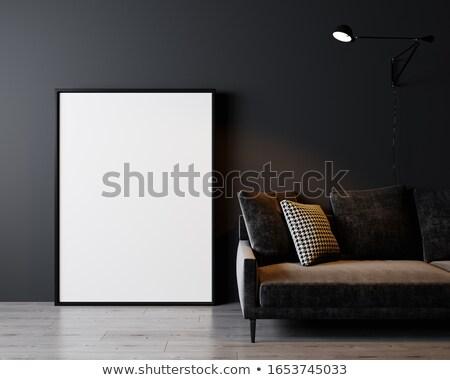 кадр · черный · стены · искусства · комнату · шаблон - Сток-фото © Paha_L