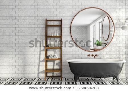 A modern tub in a minimalistic bathroom Stock photo © jrstock