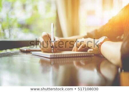memorándum · dotación · cadena · oficina · carpeta · amarillo - foto stock © stevanovicigor
